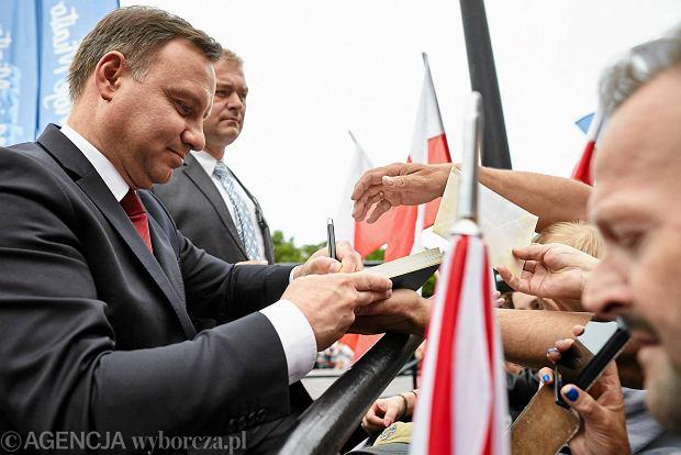"""Andrzej Duda w Kwidzynie. """"Dziękujemy za dobrą zmianę, panie prezydencie"""""""