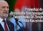 Polecenie Macierewicza: zawołania na cześć ofiar ze Smoleńska w każdym apelu
