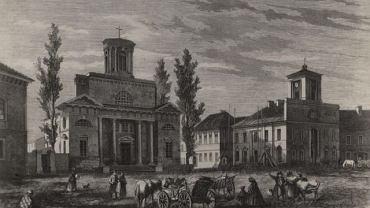 Kościół ewangelicko-augsburski pod wezwaniem św. Trójcy, obecnie kościół rzymskokatolicki p. w. Zesłania Ducha Świętego, ul. Piotrkowska 2