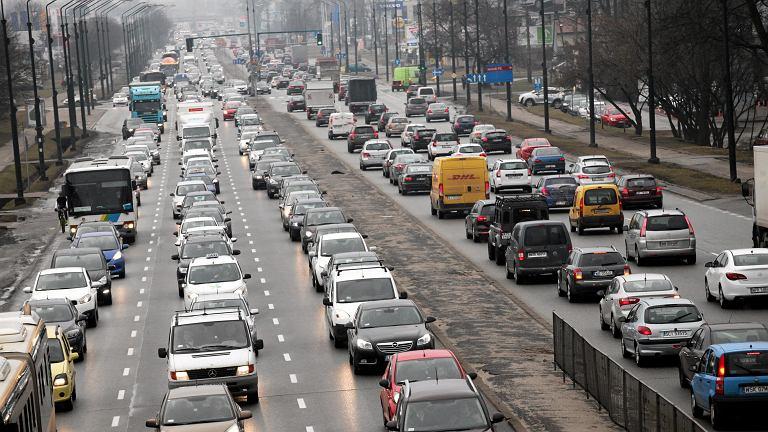 Poranne korki w Warszawie
