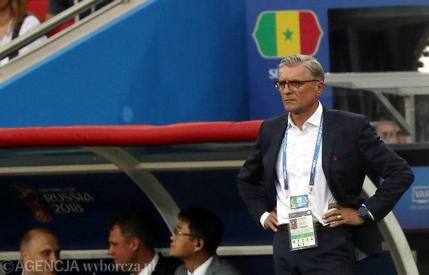 Adam Nawałka podczas meczu fazy grupowej Polska - Senegal