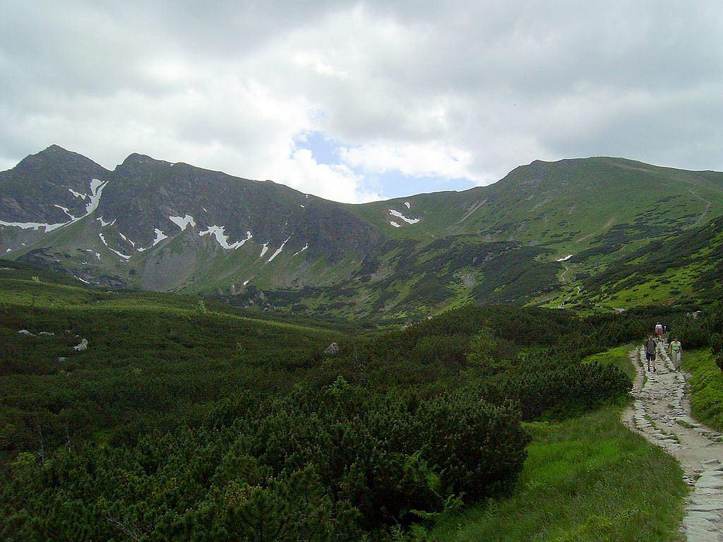 Przełęcz Liliowe to teren łagodny i urodziwy