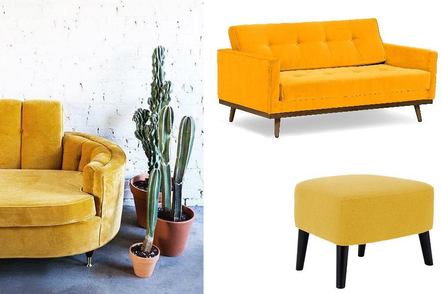kanapa żółta