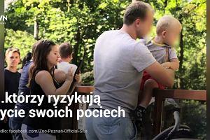 Poznańskie zoo publikuje zdjęcia nieodpowiedzialnych rodziców. W ten sposób chce zapobiec tragedii