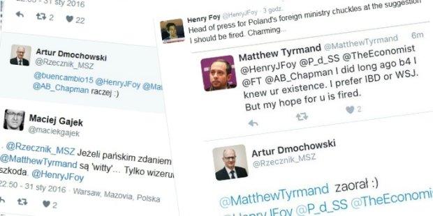 Dyskusja na Twitterze z udzia�em rzecznika polskiego MSZ
