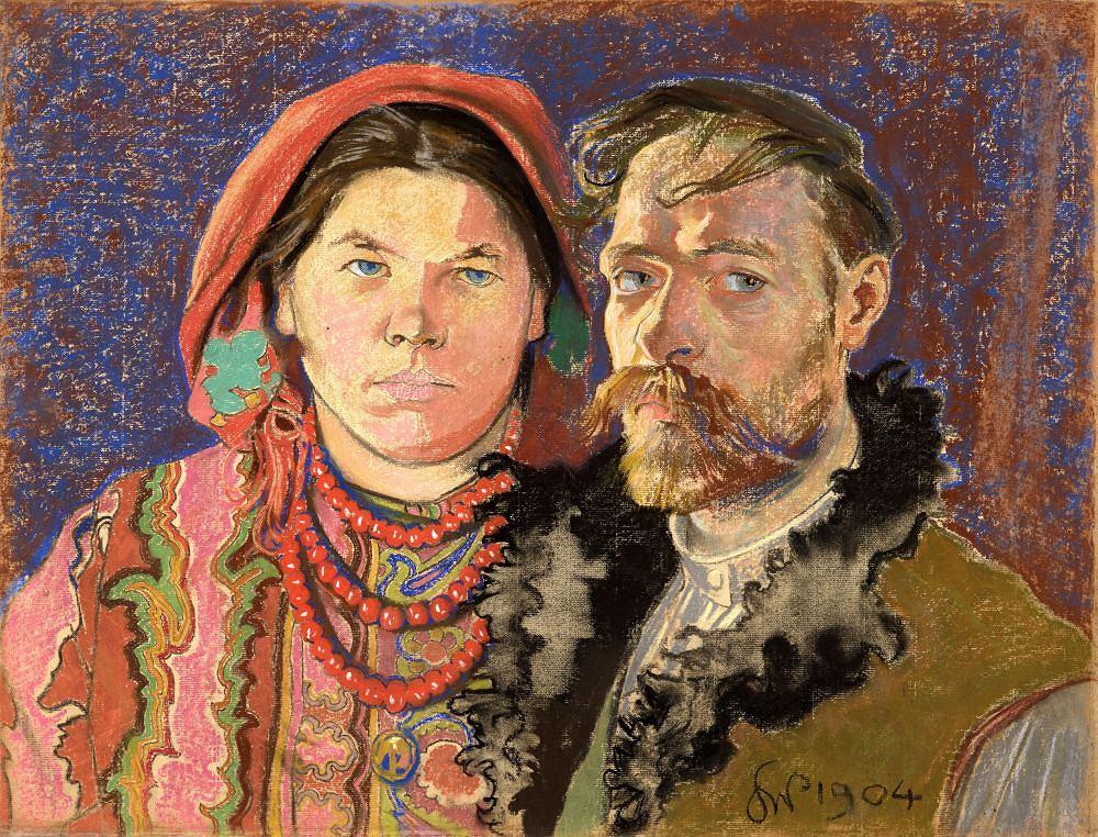 Stanisław Wyspiański, 'Autoportret z żoną', pastel, 1904 r. / Pracownia fot. MNK