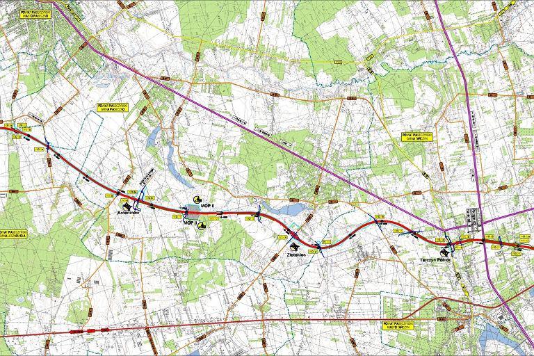 Plan budowy S7 z Warszawy do Grójca