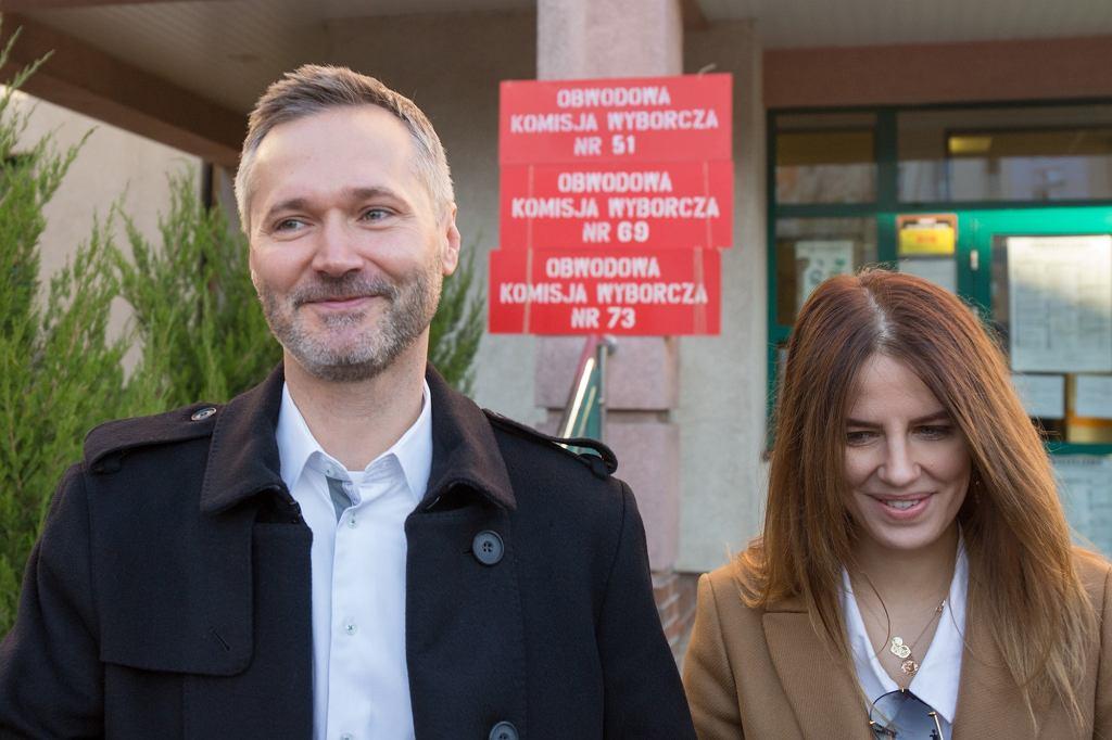 Jarosław Wałęsa z żoną