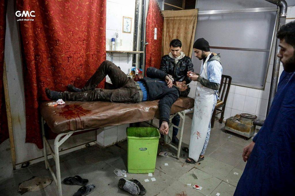 Ranny w bombardowaniach z 20 lutego we Wschodniej Ghoucie