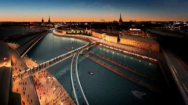 Slussen Bridge w Sztokholmie