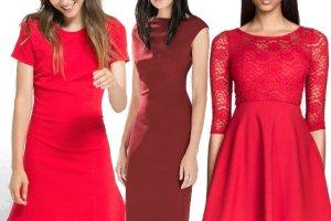 Sukienki w r�nych odcieniach czerwieni