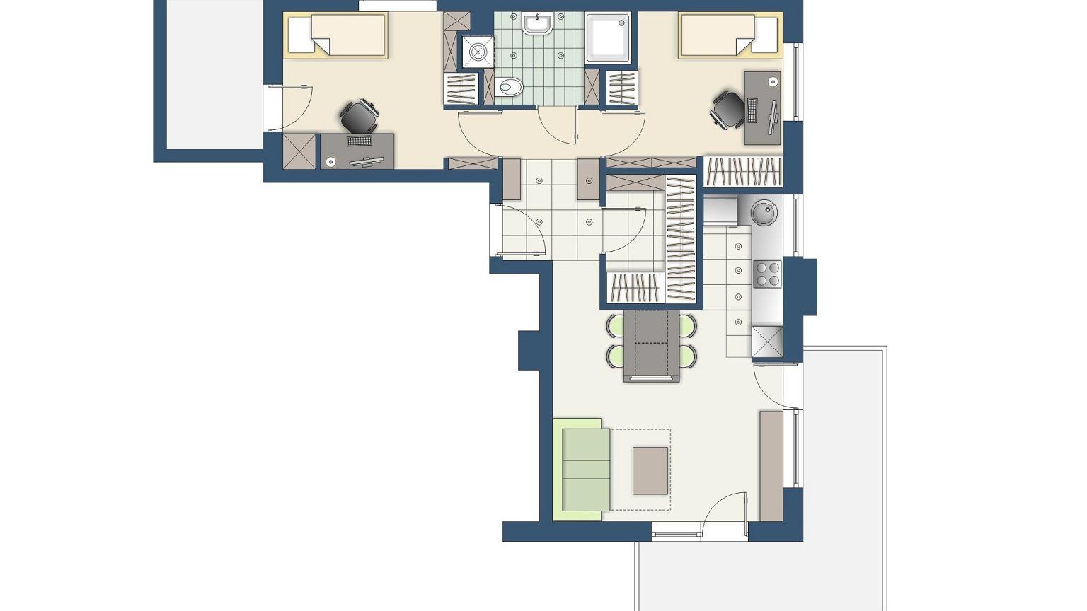 jak urz dzi trzypokojowe mieszkanie dla 4 osobowej rodziny. Black Bedroom Furniture Sets. Home Design Ideas