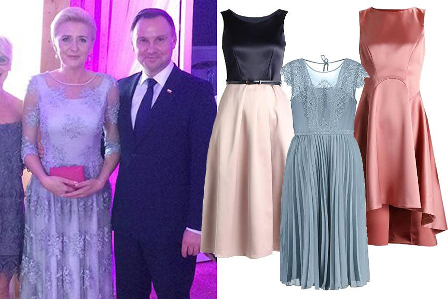 sukienki na wesele dla puszystych długie