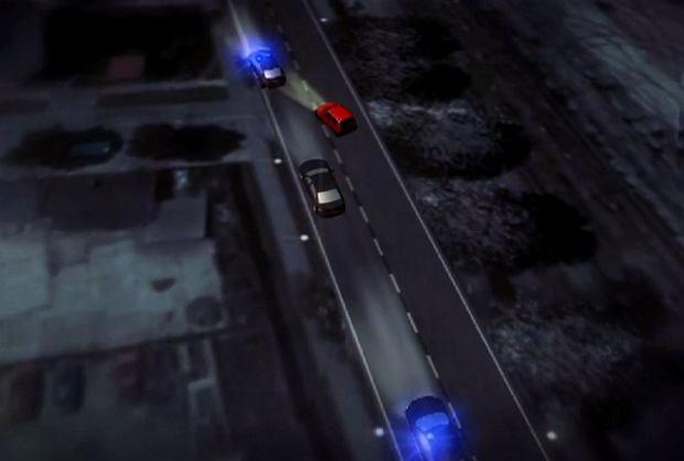 """Wypadek premier Szydło. """"Wiadomości"""" TVP zamieniają znaki drogowe w Oświęcimiu - pojedyncza przerywana zamiast podwójnej ciągłej"""