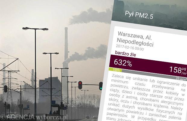 Uwaga na smog! Dziś fatalne powietrze w wielu miastach. Należy unikać wychodzenia z domu
