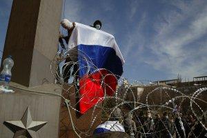 "Ukraina: separaty�ci og�osili Donieck� Republik� Ludow�. T�um skandowa�: ""Putin, pom�!"""