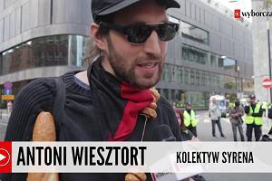 """Chleb zamiast strzelb i obwarzanki zamiast amunicji. Protest Inicjatywy """"Stop wojnie"""" podczas szczytu NATO w Warszawie"""