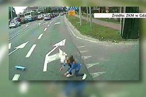 Dziewczynka wbiegła za deskorolką wprost pod autobus. Ocalił ją refleks kierowcy