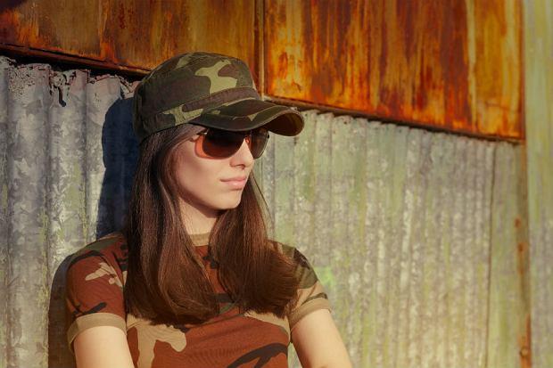 Militarna odzież - stylizacje wiosenne