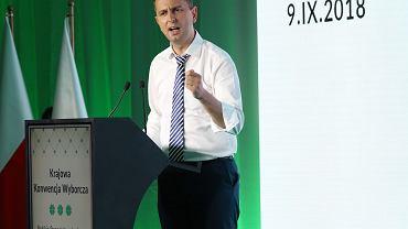 Prezes Polskiego Stronnictwa Ludowego Wladysław Kosiniak - Kamysz podczas konwencji wyborczej PSL. Warszawa, 9 września 2018