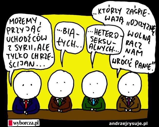 Andrzej rysuje   27.05.2015 - Andrzej rysuje dla Wyborczej.pl - 27.05.2015 -