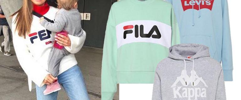 Moda lat 90. wraca. Bluzy w stylu Lewandowskiej marek Fila, Kappa i Levis to ''must have'' tego sezonu