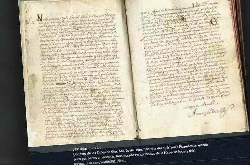 Mauskrypt ''Historii sieroty''
