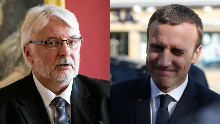 Witold Waszczykowski, Emmanuel Macron