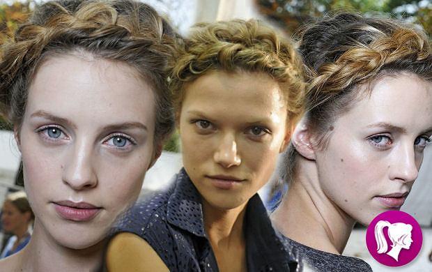 Modne fryzury tego lata - warkocz wok� g�owy jak u Valentino