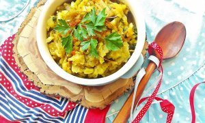 Wegańska kapusta z curry
