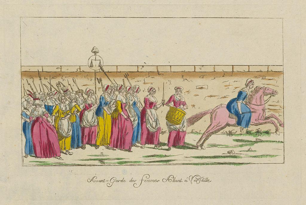 Wystawa 'Czym jest Oświecenie?' w Muzeum Sztuki Nowoczesnej Rytownik nieustalony, 'Kobiety idące na Wersal', 1789. / BUW
