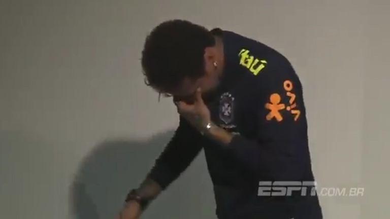 Neymar rozpłakał się na konferencji prasowej