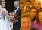 Kuba Weso�owski na weselu zaskoczy� swoj� �on�. Pomog�a mu Edyta Herbu�