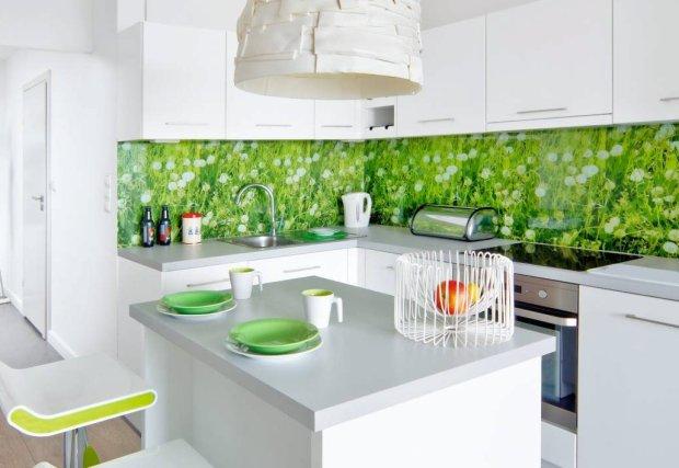 Zielone dodatki do kuchni -> Kuchnia Grafitowo Limonkowa