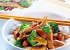 Kurczak z broku�ami i migda�ami