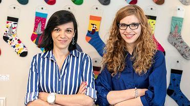 Od lewej: Właścicielki sklepu z pamiątkami z Polski 'Love Poland Design'' - Agata Krulikowska-Florek i Magdalena Krulikowska-Rogalska