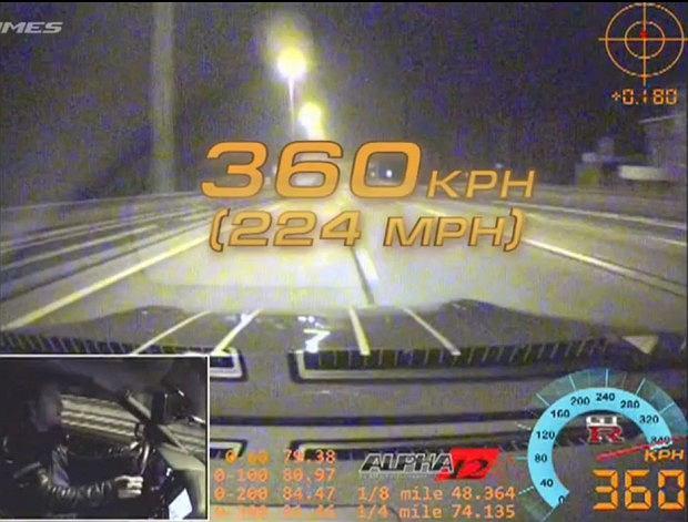 360 km/h na publicznej drodze