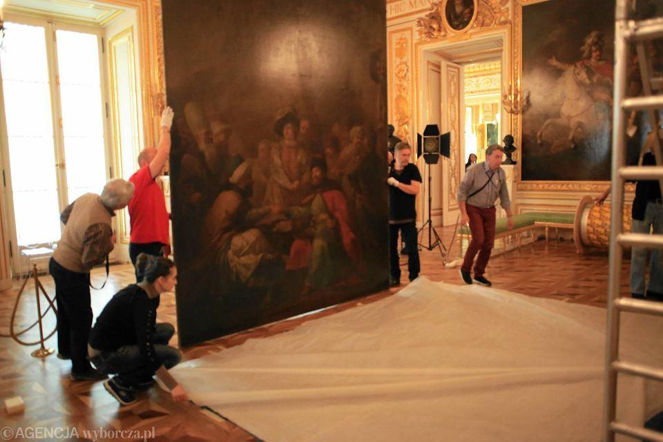 5d9290b5 Ogromny obraz zdjęty ze ściany w Zamku Królewskim. Turcy zapłacą za ...