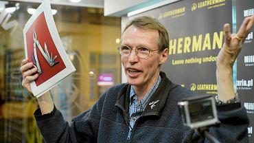 Tim Leatherman we Wrocławiu na spotkaniu z fanami swoich scyzoryków