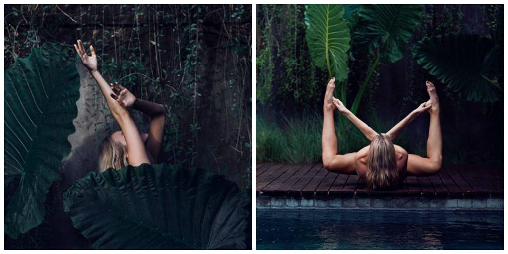 Naga joginka pokazuje subtelne zdjęcia na Instagramie
