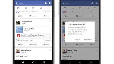 Facebook ostrzega przed fake newsami