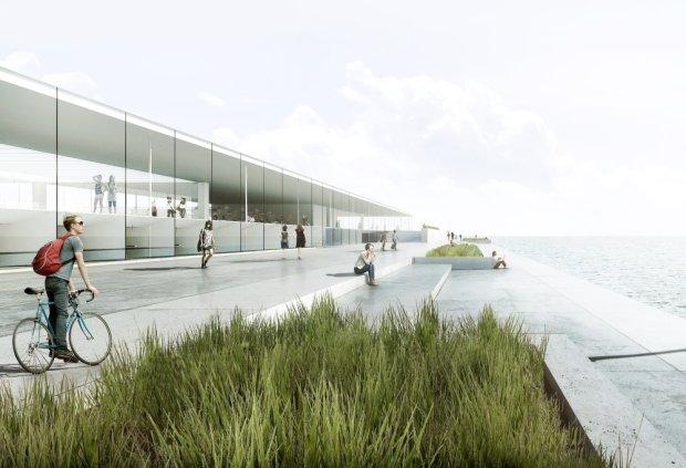 Dyplom Roku SARP. Oceanarium w Gdyni - zwyci�ski projekt Miko�aja Adamusa.