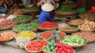 Targowisko w Wietnamie
