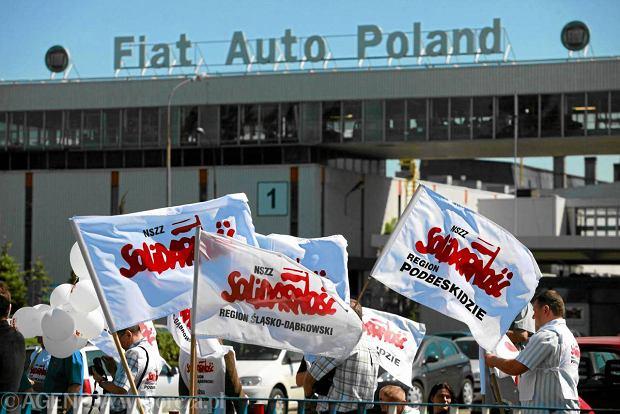 Pracownicy fabryki Fiata protestują. Po włosku