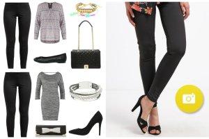 Stylizacje z czarnymi legginsami - zainspiruj si�!