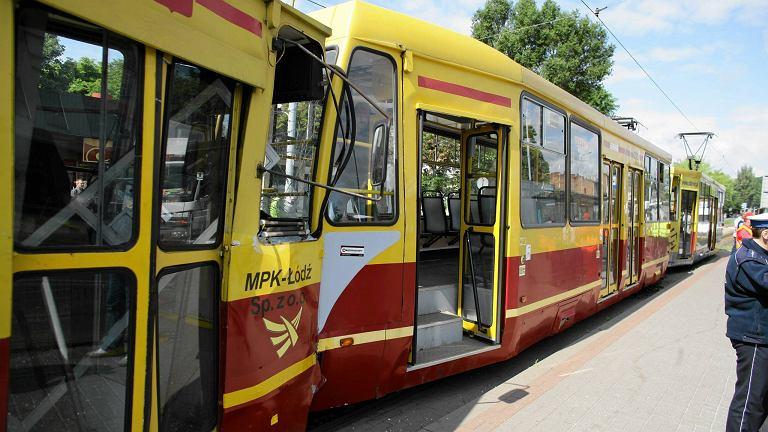 Zderzenie tramwajów na ul. Limanowskiego