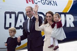 Książę William, księżna Kate z księciem George'em i księżniczką Charlotte
