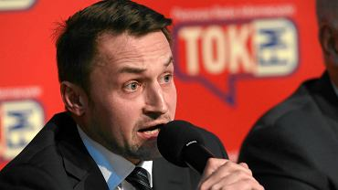 Piotr Guział podczas warszawskiej debaty przedwyborczej radia TOK FM