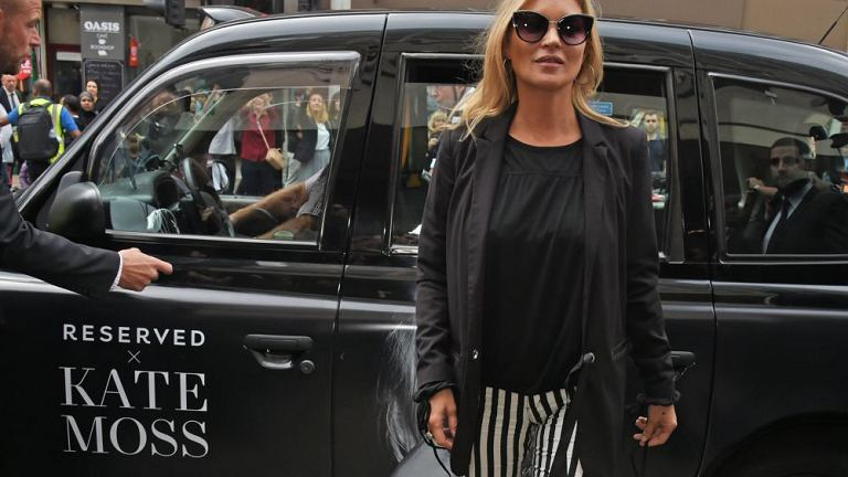 Kate Moss podczas otwarcia Reserved na Oxford Street