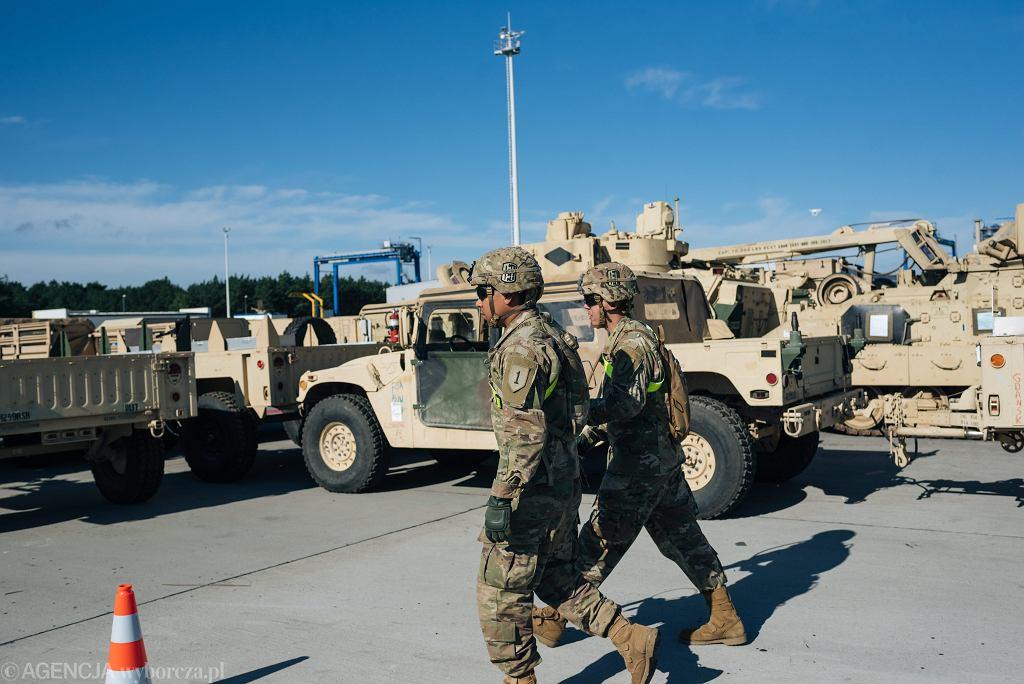 Rozładunek amerykańskich wojsk w Gdańsku, wrzesień 2017